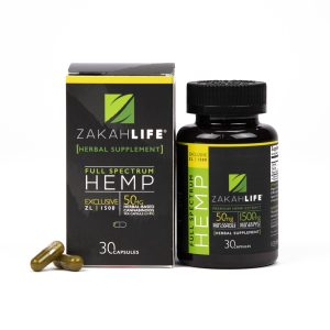 CBD Rich Full Spectrum Hemp Capsule